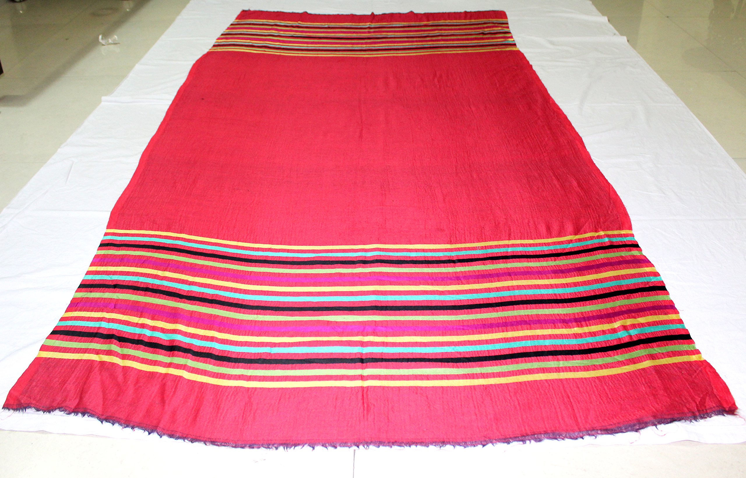 Red Pashmina scarves Colorful bridal wrap wedding shawl cashmere scarf bridesmaid gift -Size 76''x 27'' IDSC10 by iDukaancrafts (Image #7)