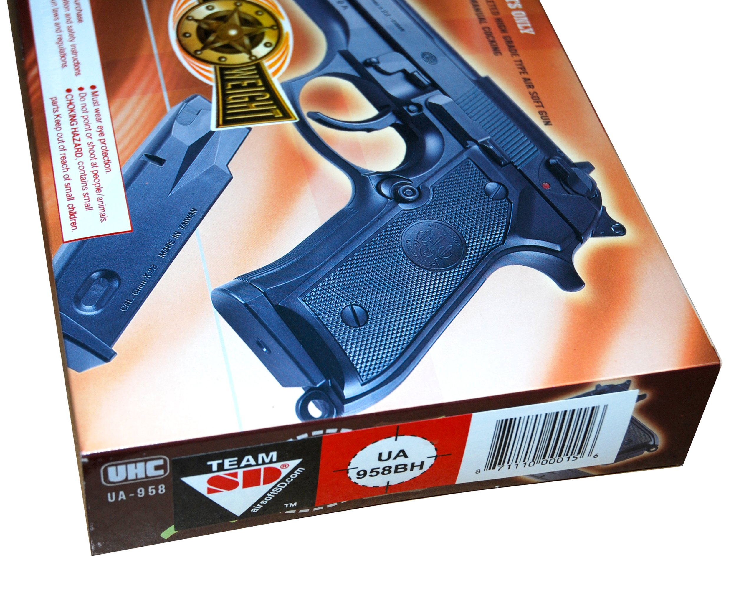 TSD Sports UA937B 4 Inch Spring Powered Airsoft Revolver (Black) by TSD