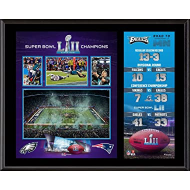Sports Memorabilia Philadelphia Eagles 12'' x 15'' Super Bowl LII Champions Sublimated Plaque - NFL Team Plaques and Collages