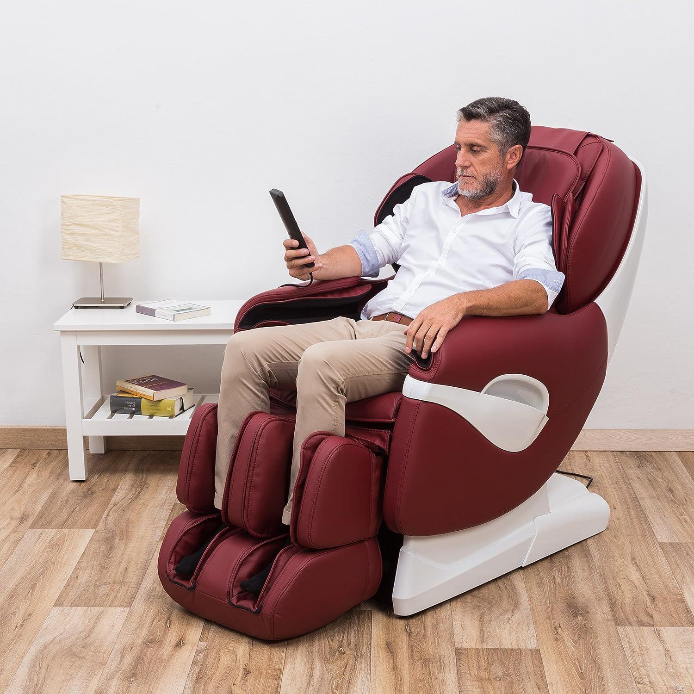 casa Poltrona da massaggio reclinabile colore: viola per rilassamento interni Shiatsu elettrica VidaXL soggiorno