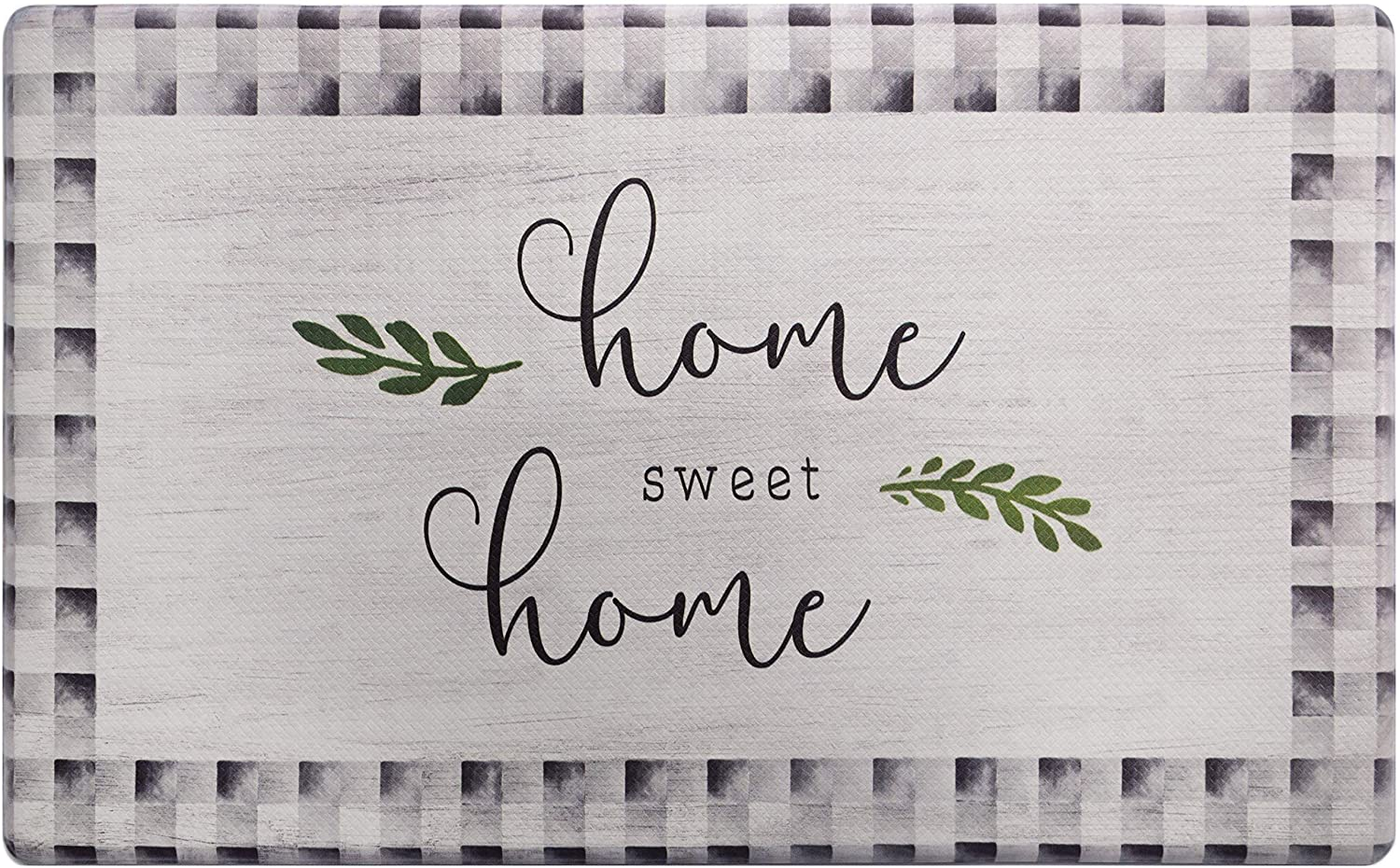 SoHome Cozy Living Anti Fatigue Kitchen Mat for Floor, Home Sweet Home Themed Cushioned Kitchen Runner Rug Mat, Non Slip, Easy Wipe Clean, 1/2 Inch Thick, 18