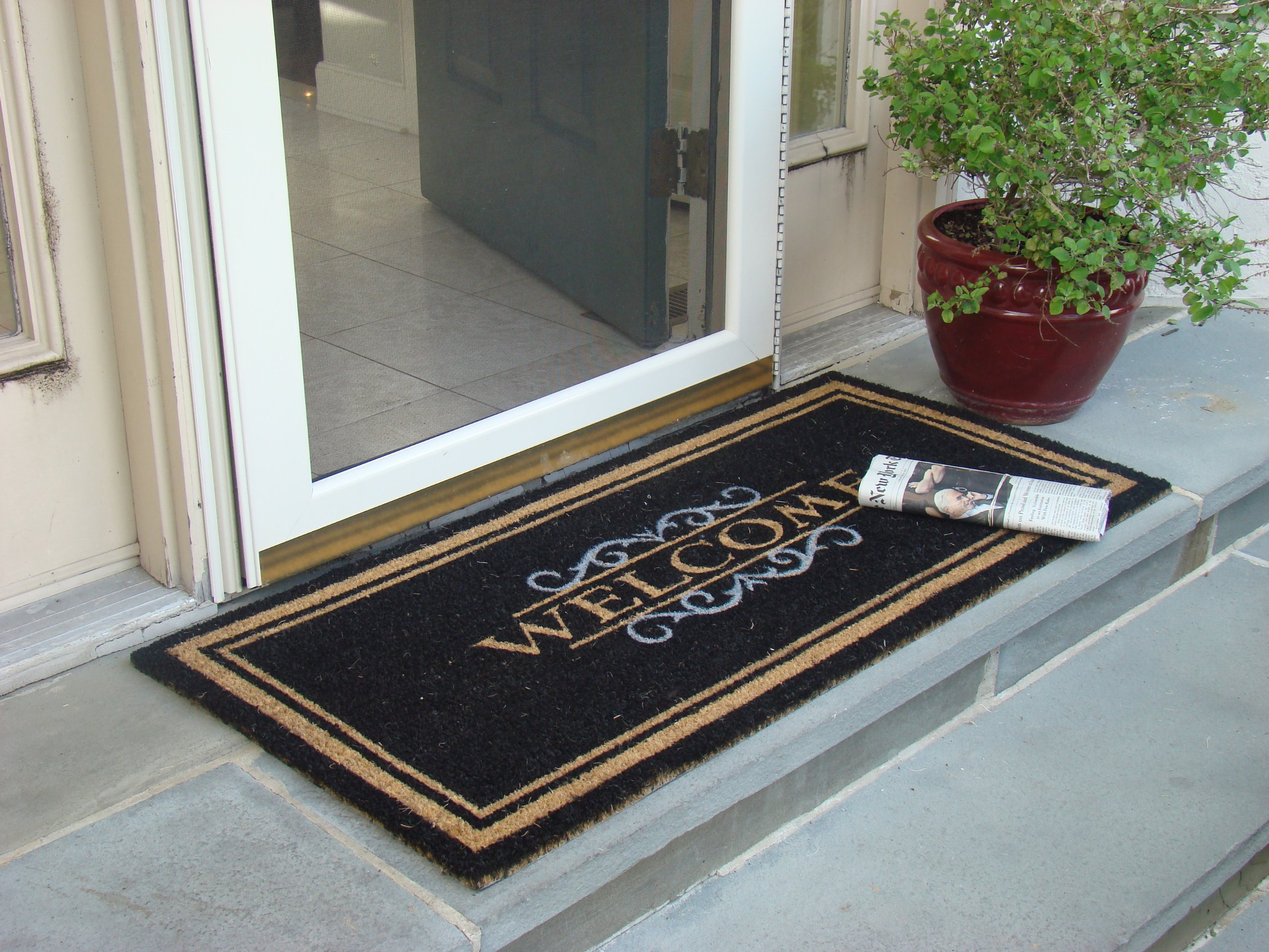 products door double doormat doors coir rubber durable and