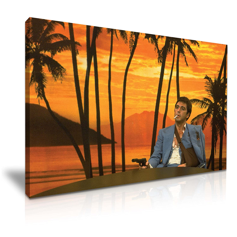 Scarface Tony Montana Canvas Wall Art Picture Print 76x50cm