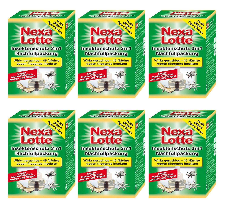 Sparset: 6 x SCOTTS Nexa Lotte Insekten Stecker 3in1, Nachfüllpackung Nachfüllpackung