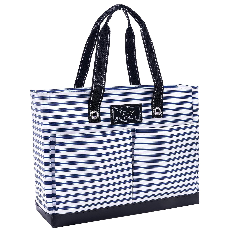 SCOUT Uptown Girl Medium Multi-Pocket Tote Bag, Water Resistant, Zips Closed Chalk Back 14761