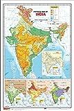 India Map- Physical (50.8cm X 76.2cm)