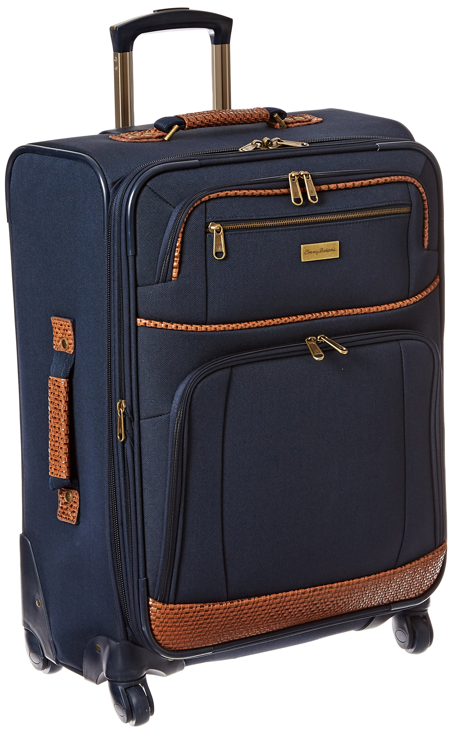 Tommy Bahama Lightweight Spinner Luggage - Expandable Suitcases for Men and Travel with Rolling Wheels, Navy