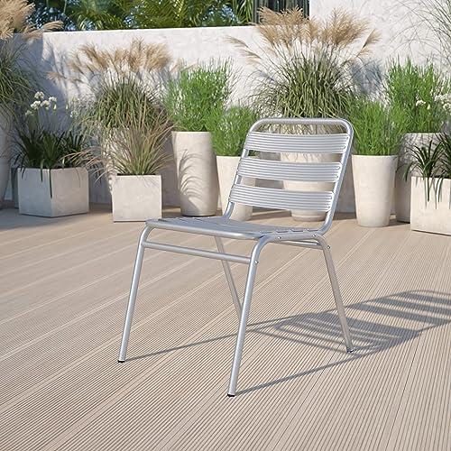 Flash Furniture Commercial Aluminum Indoor-Outdoor Restaurant Stack Chair