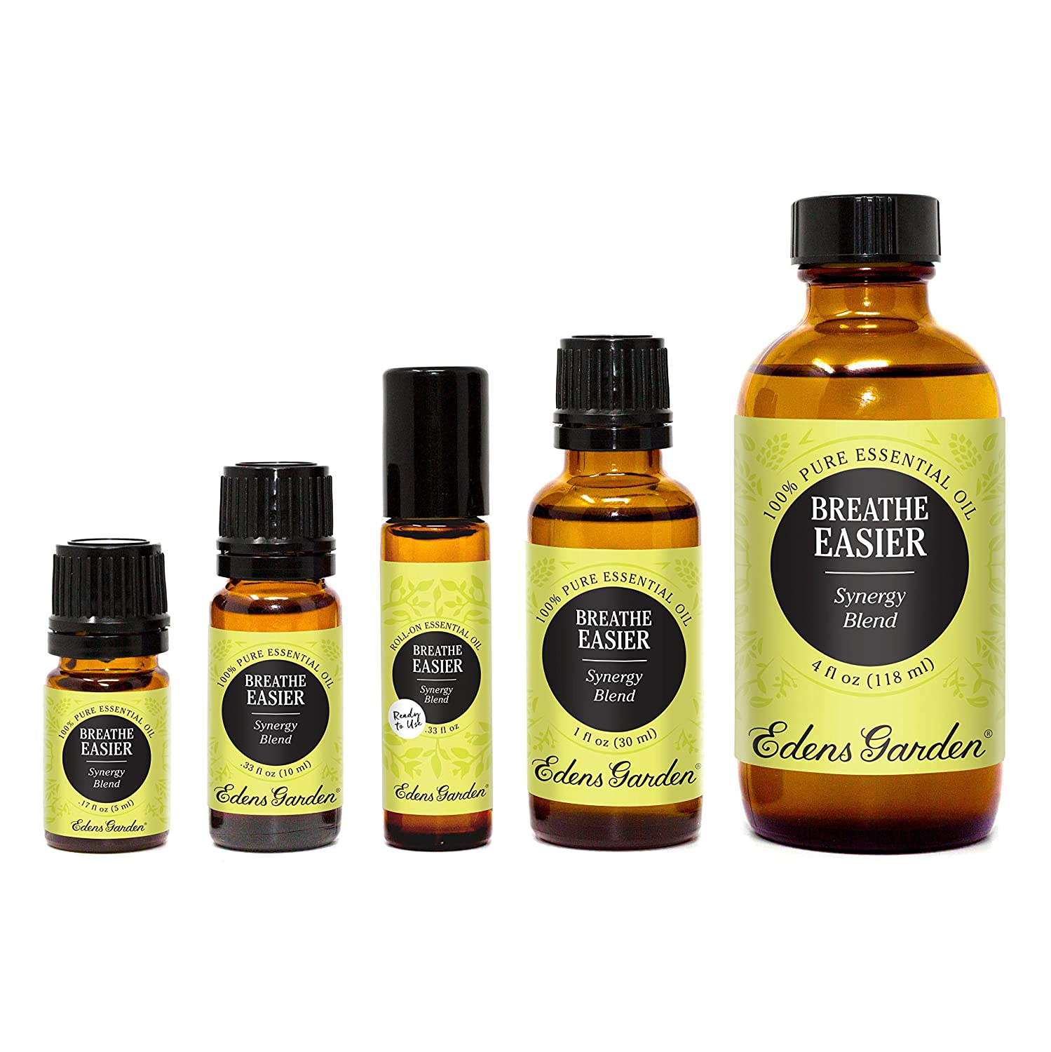 Breathe Easier 100% Pure Therapeutic Grade Synergy Blend Essential Oil by Edens Garden-10 ml, GC/MS tested, CPTG 837654537060