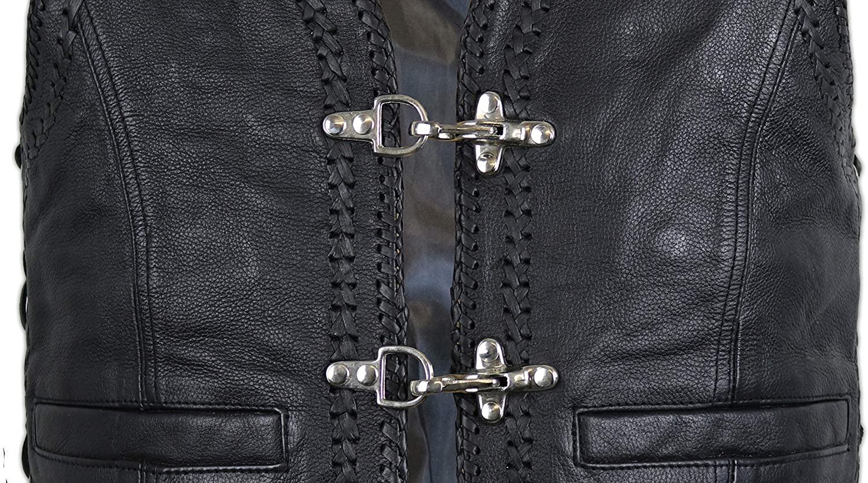 MDM Lederweste Doppelte Kordeln als Umrandung