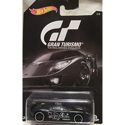 Hot Wheels 2016 Gran Turismo Ford GT LM 3/8, Black: Toys & Games