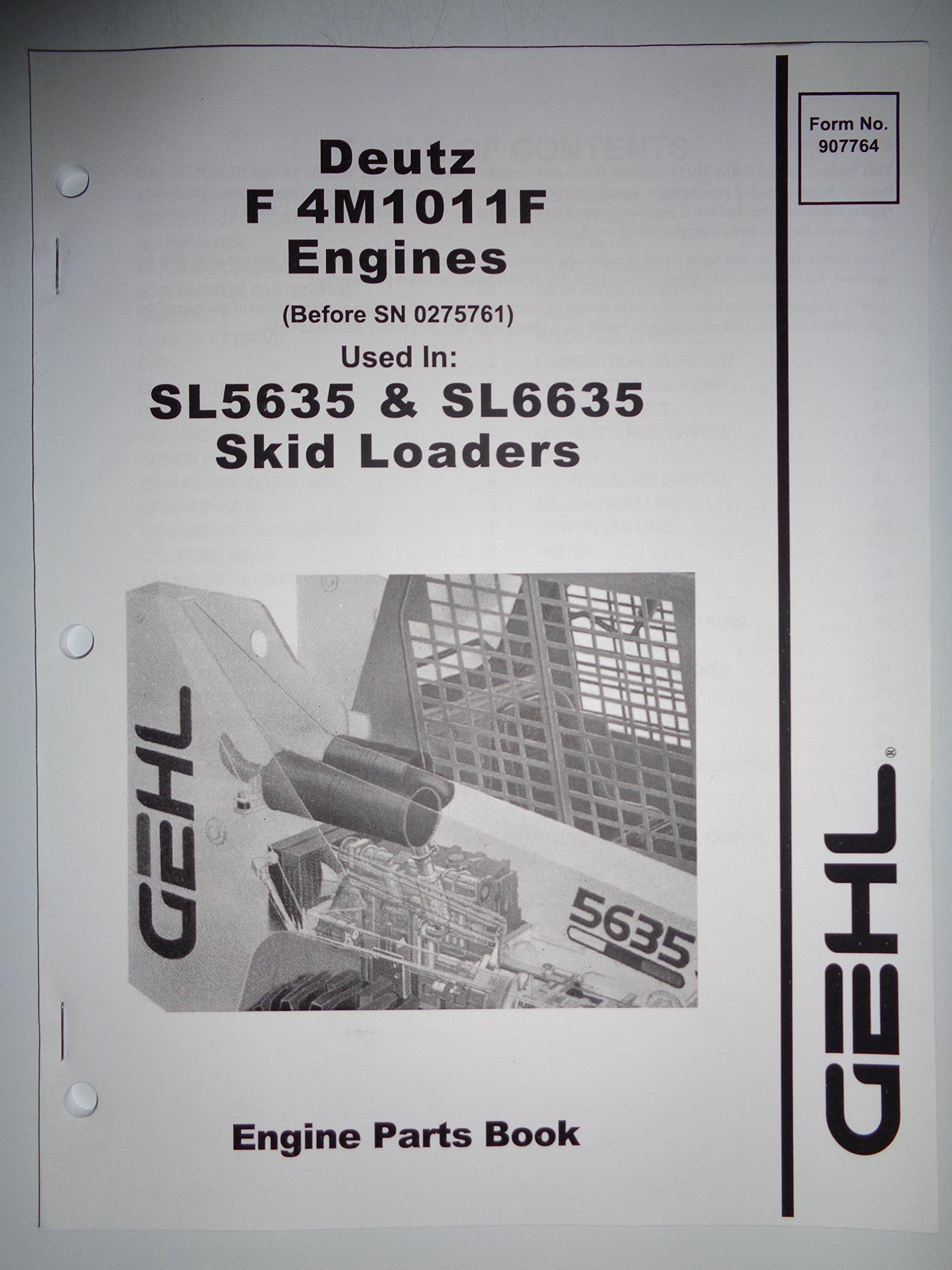 Gehl Deutz F 4M1011F Engines Used In SL5635 And SL6635 Skid