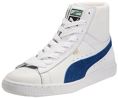 d9173fd86110 Puma Basket Classic Shoes Mid Unisex-Adult White Size  7 UK