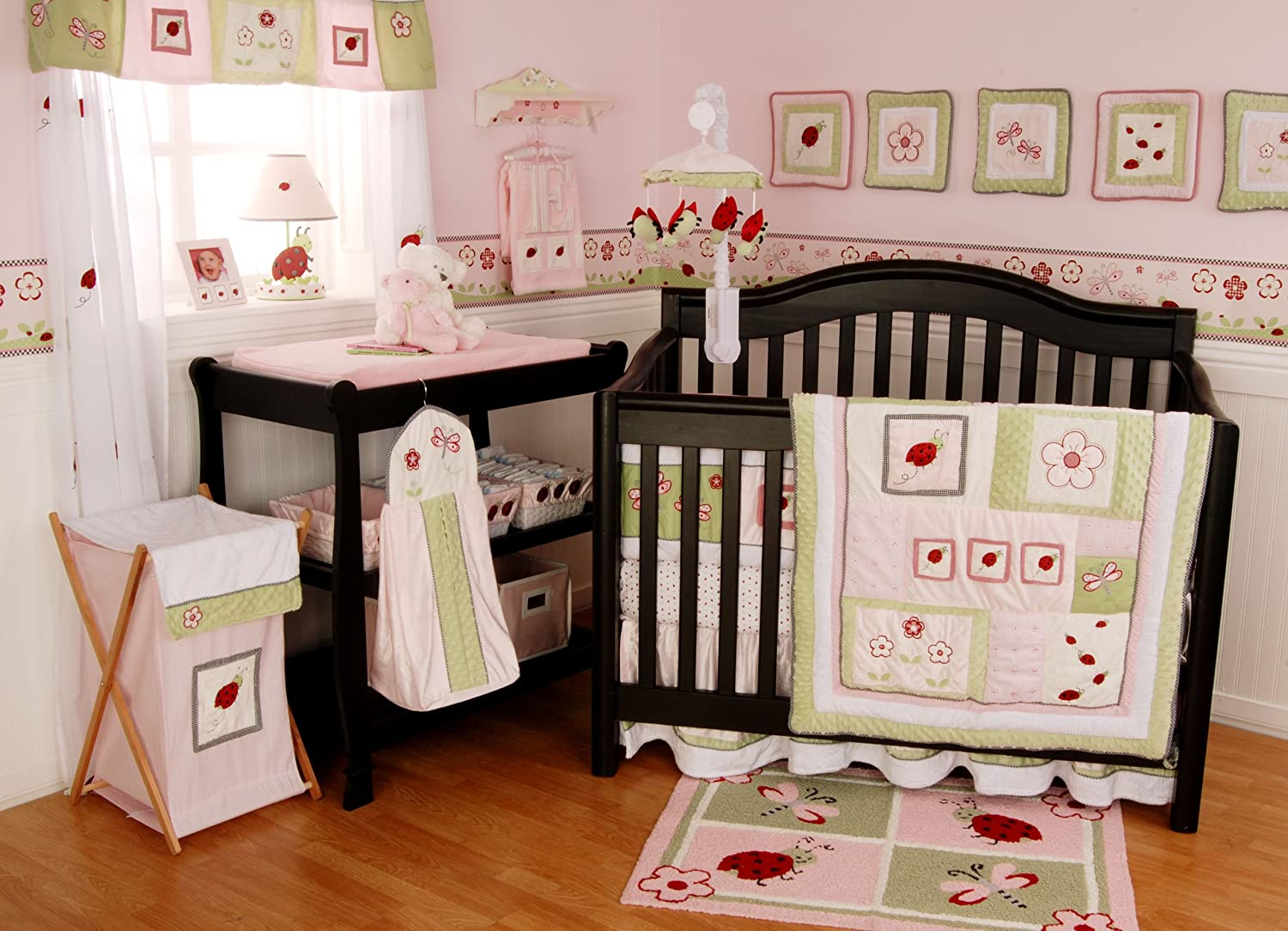 Amazon.com : Lady Bug 6 Piece Baby Crib Bedding Set (Discontinued By  Manufacturer) : Crib Bedding Ladybug : Baby