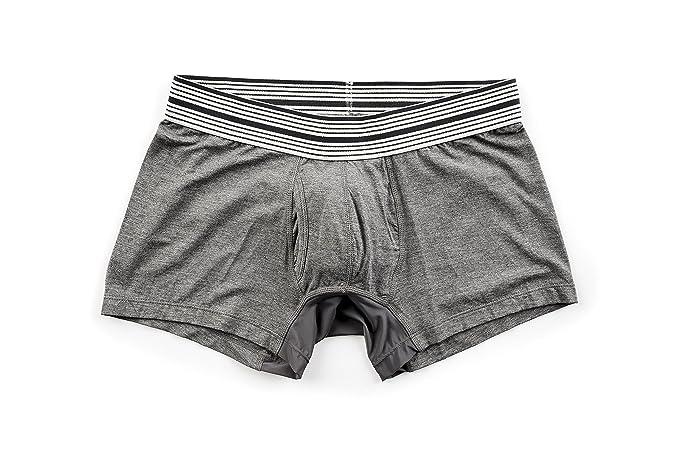 99f7d346f1fa Mr. Davis Men's Trunks Cut Boxer Brief Underwear, Small, Grey Bamboo Viscose