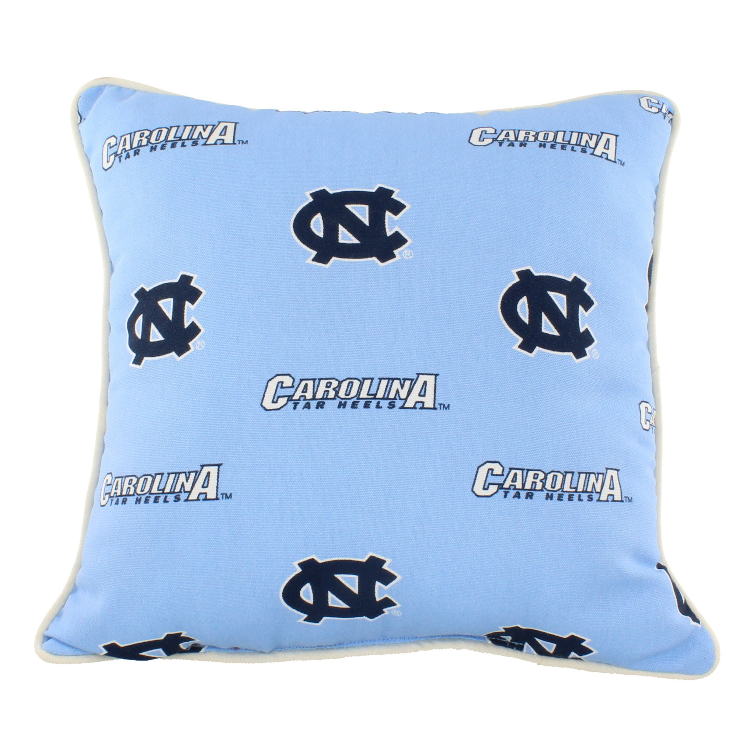 College Covers NCUODP North Carolina Tar Heels Outdoor Decorative Pillow, 16'' x 16'', Blue