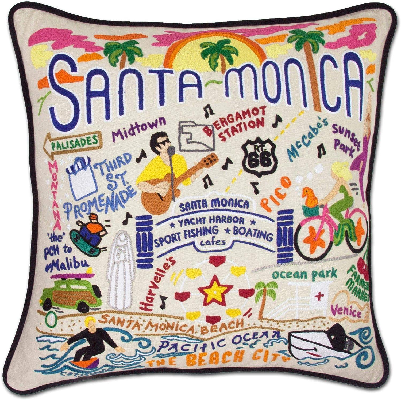 Catstudio Santa Monica Embroidered Decorative Throw Pillow