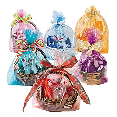 Cellophane Easter Basket Bag Assortment (bulk set of 72) Gift Basket Party Supplies: Health & Personal Care