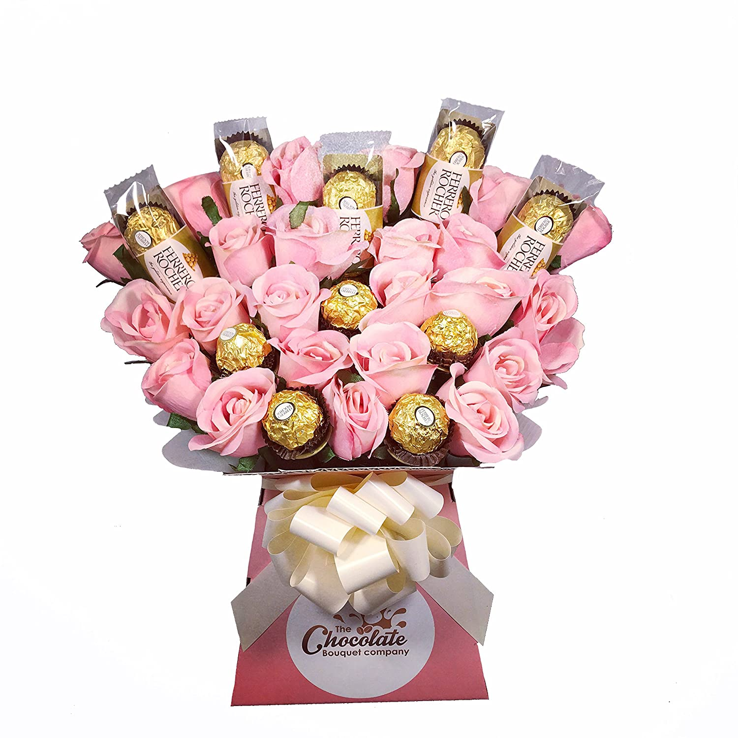 Ferrero Rocher 20 Chocolate Bouquet - Sweet Hamper Tree Explosion ...