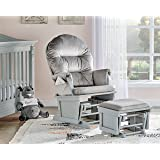 Suite Bebe Madison Glider Rocker and Ottoman, Grey and Light Grey