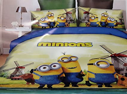 Bedsheet For Double Bed,Morden Art Multi Colored Cartoon Dizine Rsd Green  Blue Printed Bed