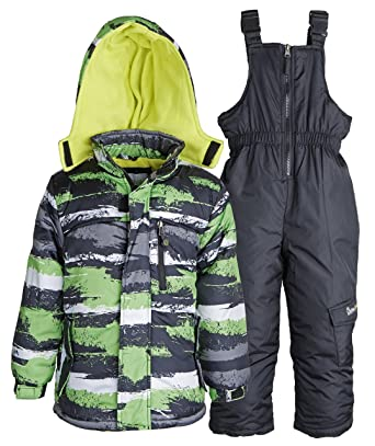 42e06f46e79d Amazon.com  Little Chill Baby Boys Snowboard Camo Snowpants Bib and ...