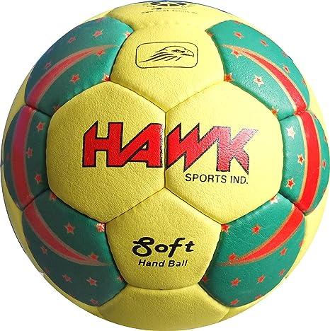 Hawk Sports handball-hk100 Pelota, Unisex Infantil, Verde/Amarillo ...