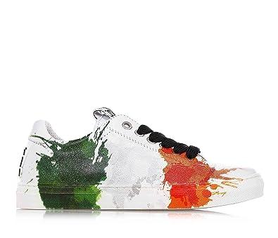 d04c20cf9ede8e Be Kool - Weiße Schuhe mit Schnürsenkel aus Leder