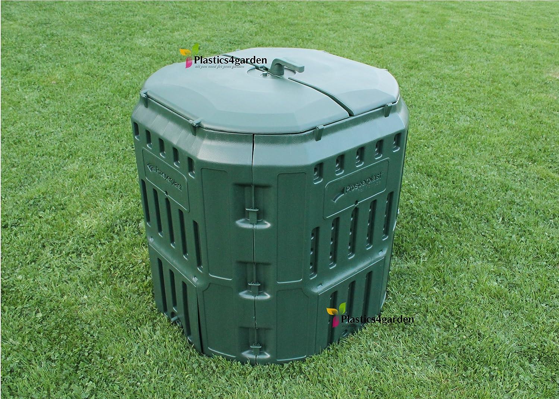 Prosperplast - Muy sólido Garden tacho de Basura de Unidad de compostaje conversor 340l–Verde