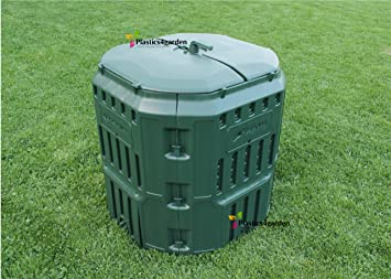 Prosperplast - Muy Sólido Garden tacho de Basura de Unidad de compostaje conversor 340l - Verde: Amazon.es: Jardín
