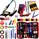 Soldering Iron Kit - Soldering Iron 60 W Adjustable Temperature, Digital Multimeter, Wire Cutter, Stand,Soldering Iron…