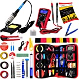 Soldering Iron Kit - Soldering Iron 60 W Adjustable Temperature, Digital Multimeter, Stand, Soldering Iron Tip Set…