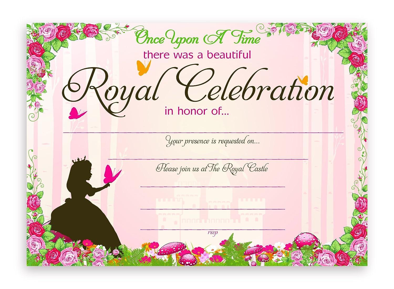 Amazon.com: Princess Fairy Tale Party Invitations - 10 Invitations + ...