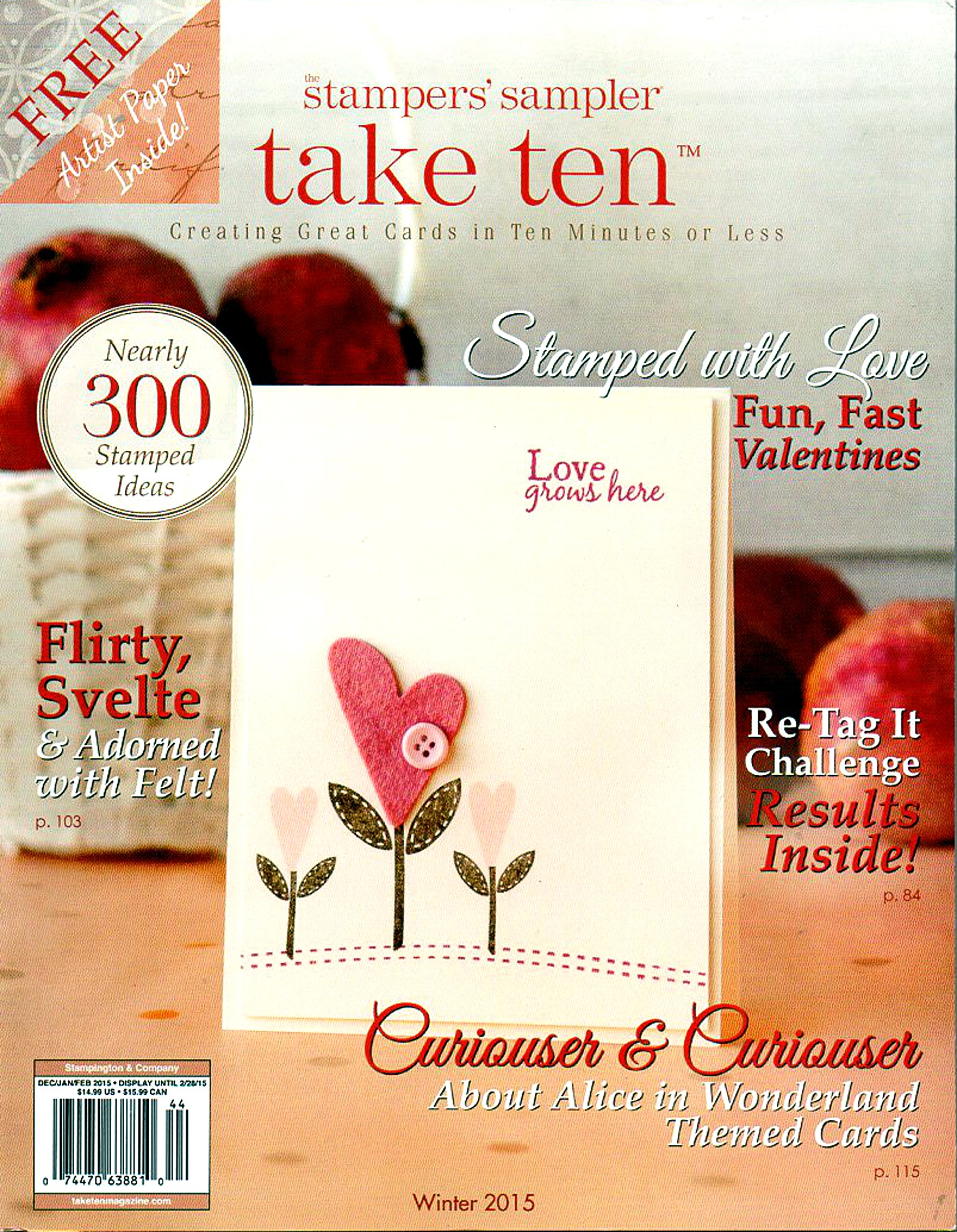 Take Ten: The Stamper's Sampler, Vol 13, Issue 3 Jun/Jul/Aug 2013