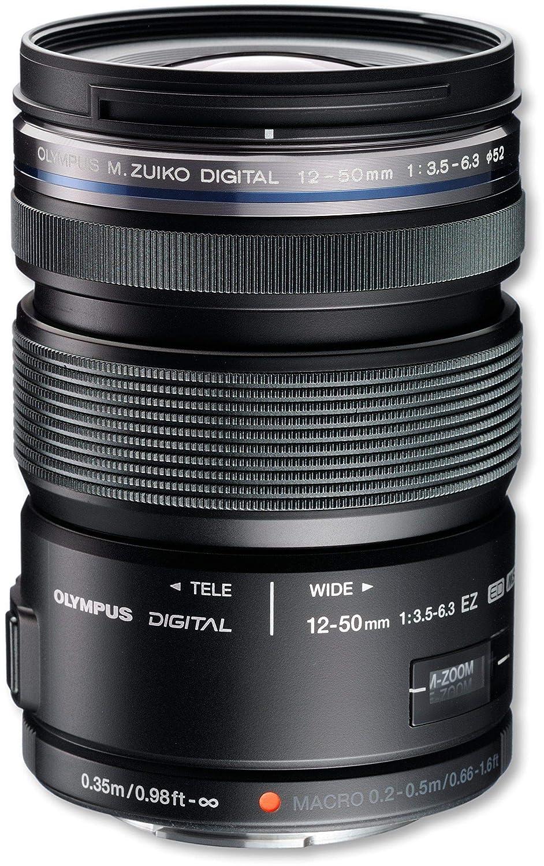 OLYMPUS ED12-50mmF3.5-6.3 EZ BLK 標準ズームレンズ 防塵防滴 ブラック  ブラック B006O2KFIA