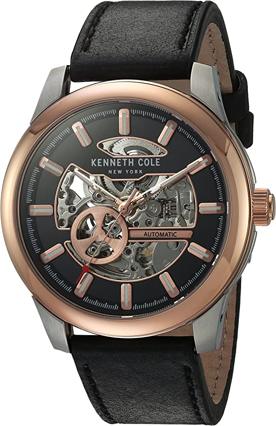 Kenneth Cole New York Men's Japanese Automatic Stainless Steel and Leather Dress Watch