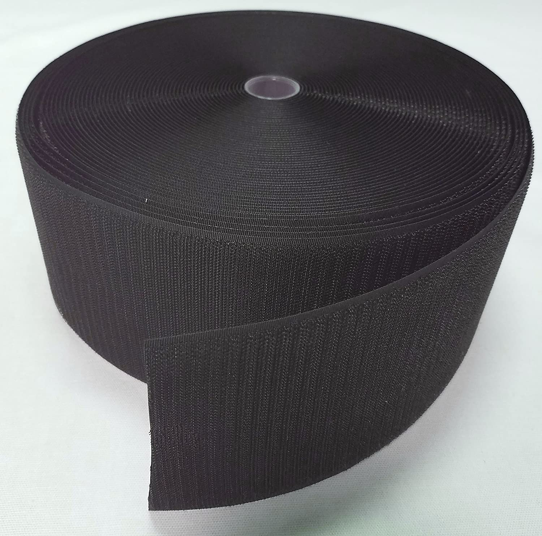 4 BLACK SEW-ON HOOK and LOOP FASTENER - HOOK SIDE ONLY - 1 YARD Ameratex