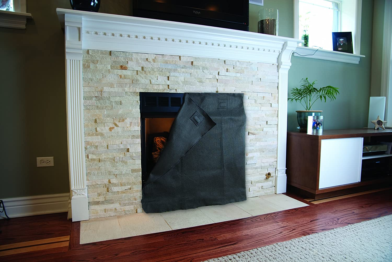 amazon com fireplace blocker 32 inch h x 42 inch w blanket