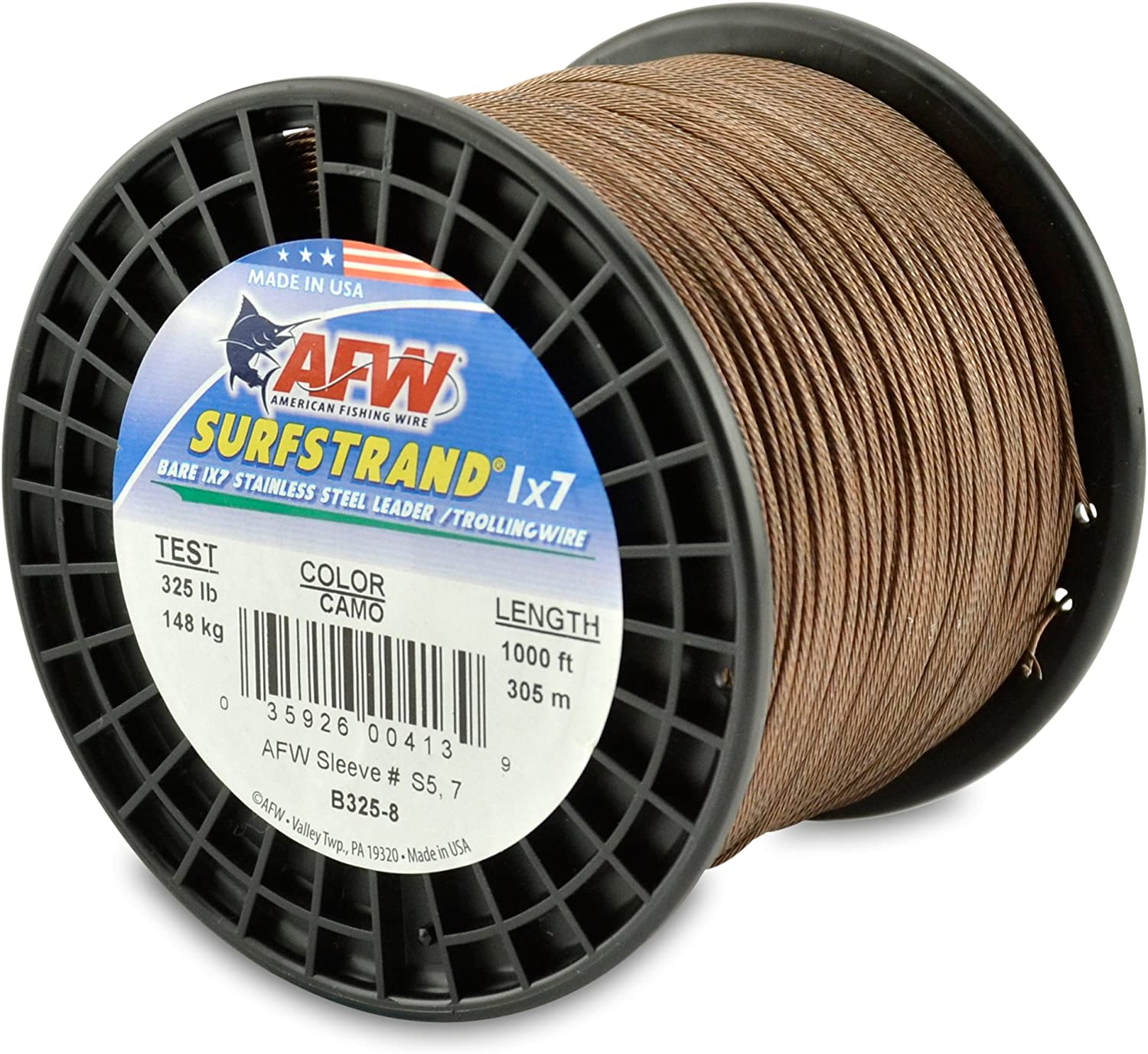 American Fishing Wire Surfstrand Bare 1x7 Stainless Steel Leader Wire