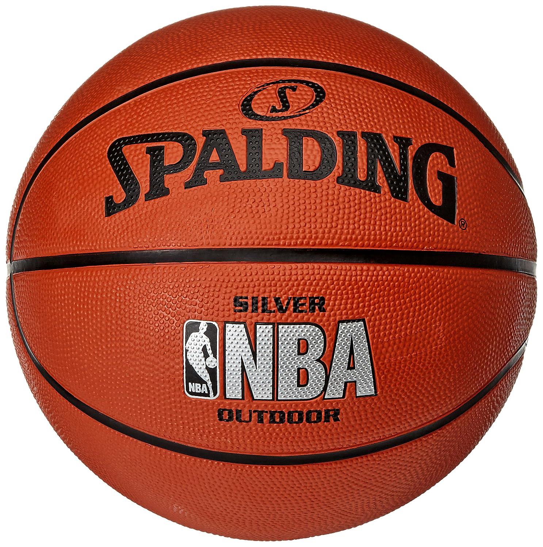 Spalding Basketball Silver Outdoor Grö ß e 7 + Molten DHP21-BL Ballpumpe + Kugelschreiber von RS-Sports Spalding (Ball) / Molten (Pumpe) 3001592010017 / DHP21-Bl