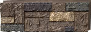 NextStone Polyurethane Faux Stone Panel - Castle Rock - Tuscan Brown (4 Panels per Box)