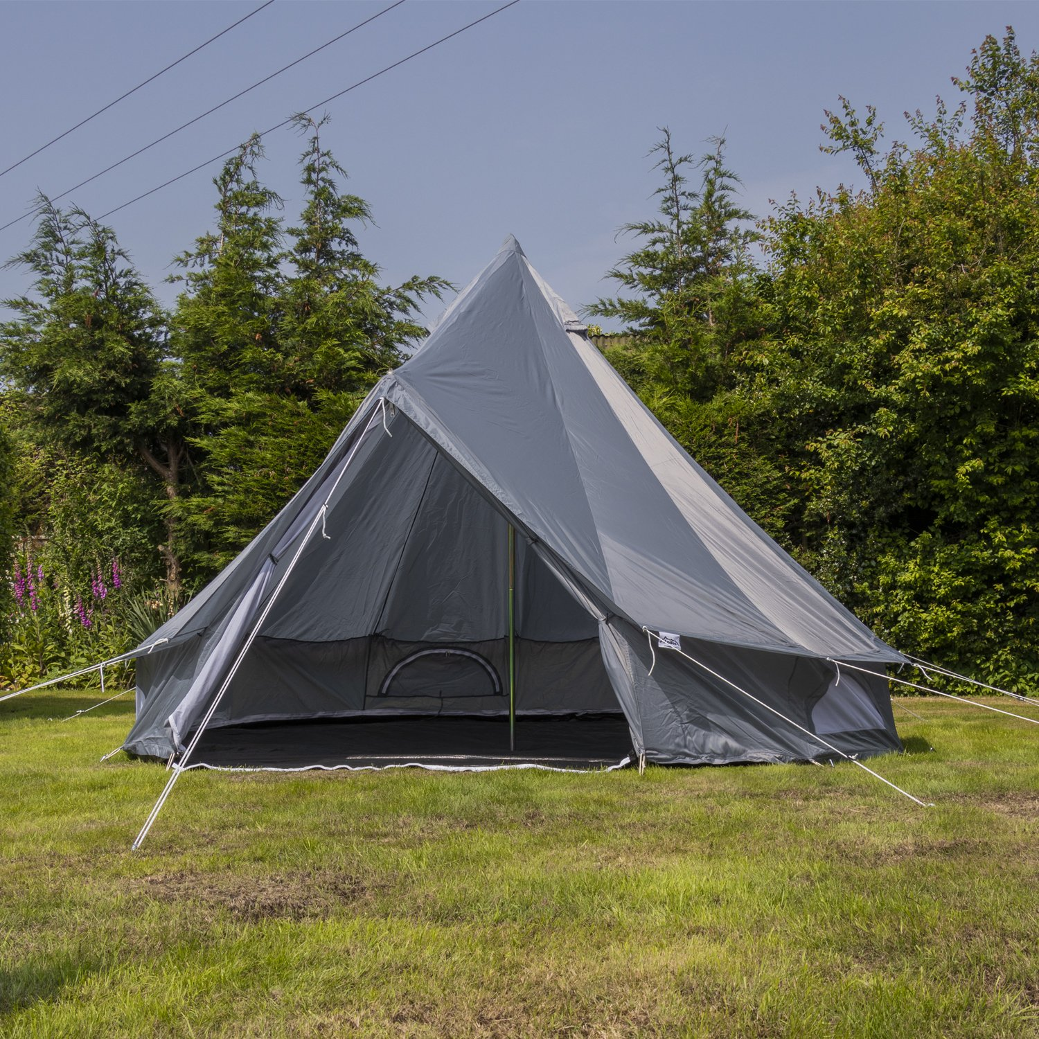 Festival Luxury Teepee Camping Glamping Andes 5m Oxford Bell Tent With Heavy Duty Zipped In Groundsheet