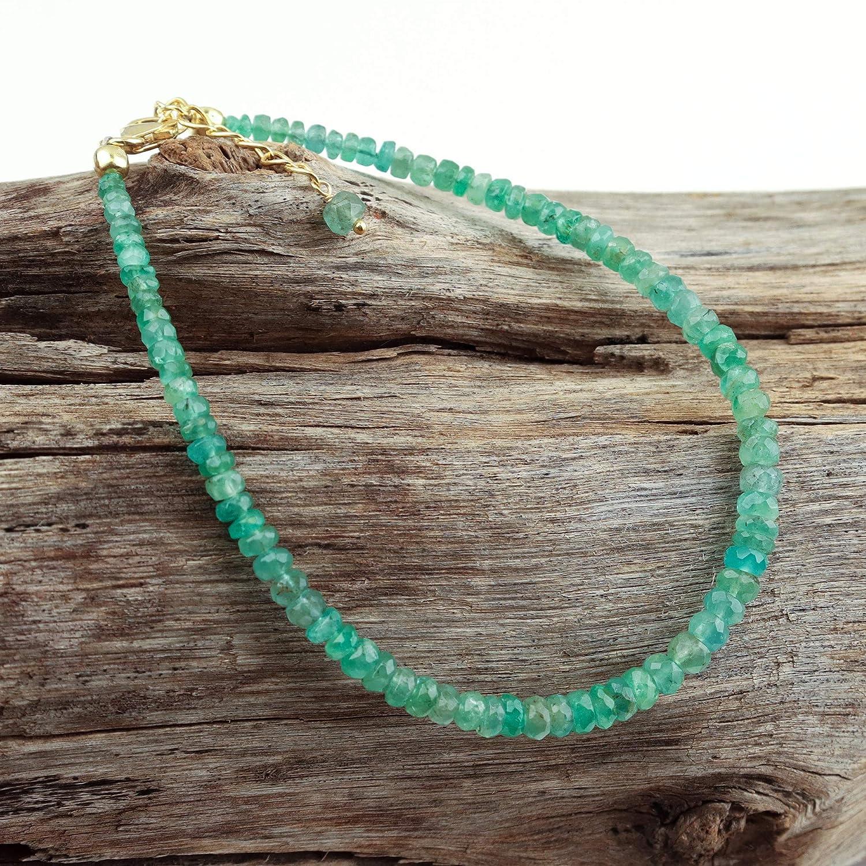 Energy Healing Crystals Bracelet for Women Handmade Beaded Bracelet Christmas Gifts Zambian Emerald Crystal Bracelet May Birthstone