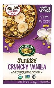 Nature's Path Organic Gluten-Free Cereal, Crunchy Vanilla Sunrise, 10.6 Ounce Box