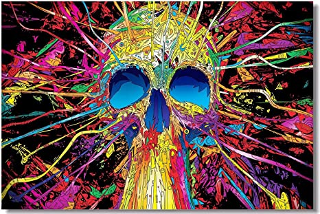 Poster Psychedelic Trippy Colorful Ttrippy Surreal Abstract Astral Art Print 1