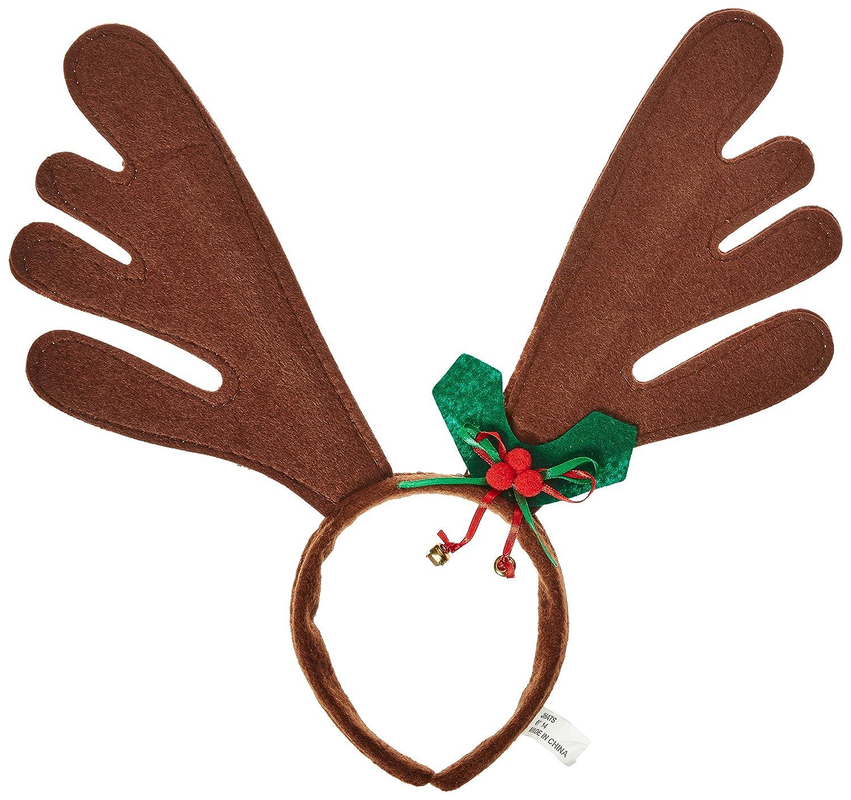 Amazon.com: Jacobson Hat Company Christmas Reindeer Antlers ...