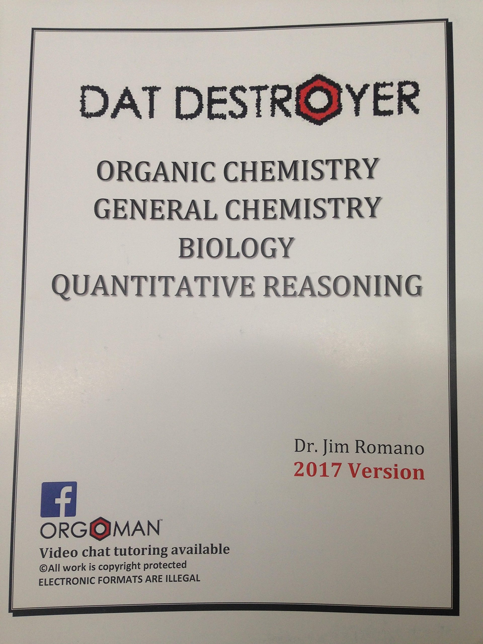dat destroyer pdf DAT DESTROYER 2017 Version: Dr Jim Romano, Orgoman: Amazon.com: Books