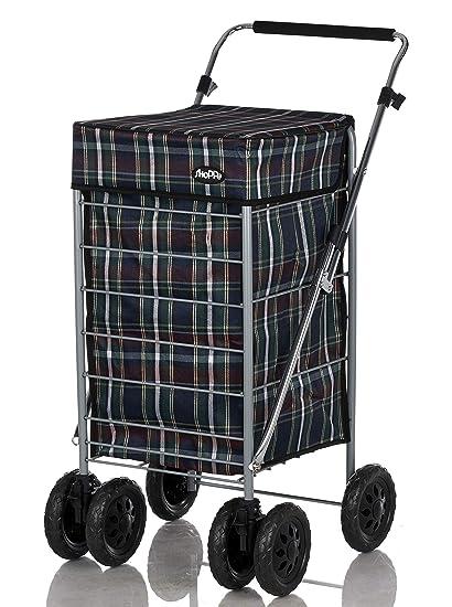 Shoppa - Carro de la compra, 6 ruedas, organizador de la compra de la