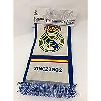 Bufanda Real Madrid - Telar color Blanco /