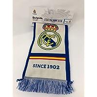 """Foulard Real Madrid """"EL MEJOR CLUB DEL MUNDO"""" - Produit sous Licence - Couleur Bleu (140 x 20cm)"""